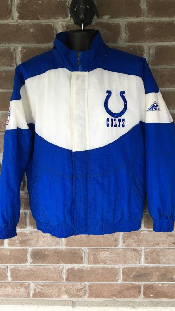 the latest 027b0 8852c Vintage Indianapolis Colts Jacket by Apex One Rare NFL 90s Blue