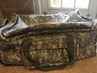 Green and white camouflage duffel bag Alexandria, 22315