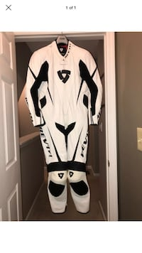 "Rev'it ""BULLIT"" One Piece Motorcycle Race Suit - White Size 50 New York"