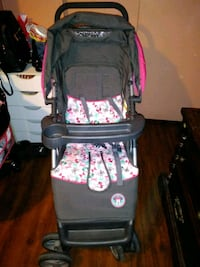 baby's black and pink floral stroller Mesa, 85208