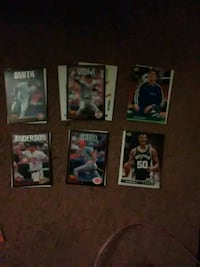six assorted football trading cards Cotati, 94931