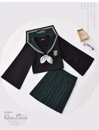 black collared long-sleeved shirt and black pleated skirt Sheffield, S3