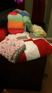45 for small 75 for large hand made baby blankets Ajax, L1Z 1J5