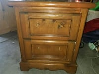 brown wooden 2-drawer nightstand Las Vegas, 89108