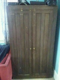 brown wooden 2-door wardrobe Regina, S4N 3R8