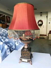 Table lamp - brown w/gold accents