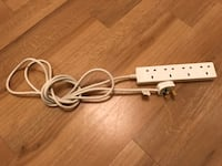 4way Socket Extension Cord Color: White スタンフォード, PE9