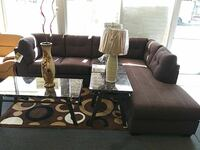 two brown lamp shades