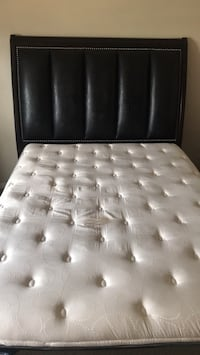 tufted white leather bed headboard Sandy Springs, 30328