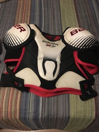 White, red, and black sports bra Montreal, H1E 6G7