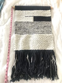 Hanging Woven boho tapestry black and white Newport Beach, 92625