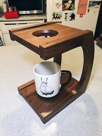 Custom wood hand made coffee pour over Chicago, 60642