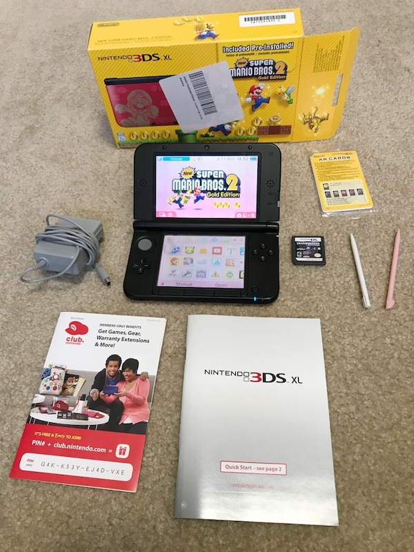 Used Limited Edition New Super Mario Bros Red Nintendo 3ds Xl