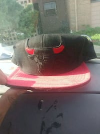 black and red fitted cap San Antonio, 78222