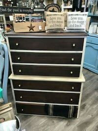 Dresser cream with stained drawers Sumner, 98391