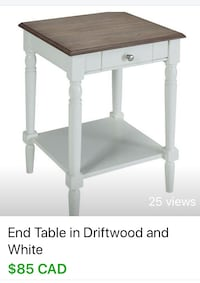 rectangular white wooden side table screenshot Burnaby, V5J 3C8