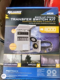 Reliance transfer switch kit. 6 circuits, model #306-CRK Milford, 08848