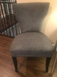 2 Fancy Gray Chairs and Glass Table! Nashville