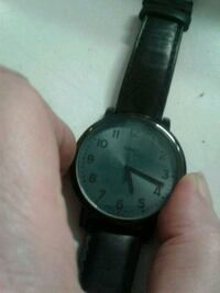 Indiglo timex watch with black leather strap