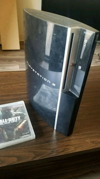 black Sony PS3 console