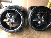 """Dub 22"""" Rims with Tires included Mississauga, L5A 3G6"""