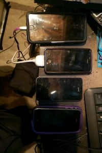 3 x iphone 4's and one iPhone 6.