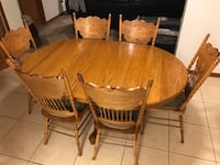 Oak table and 6 chairs Maitland, 32751