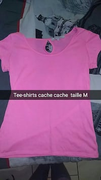 Tee-shirts cache cache rose taille M Bouëx, 16410