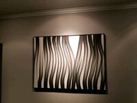 Stunning B&W Abstract Painting decor
