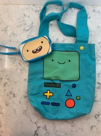 ADVENTURE TIME SET - wallet, dress, buttons, and bag