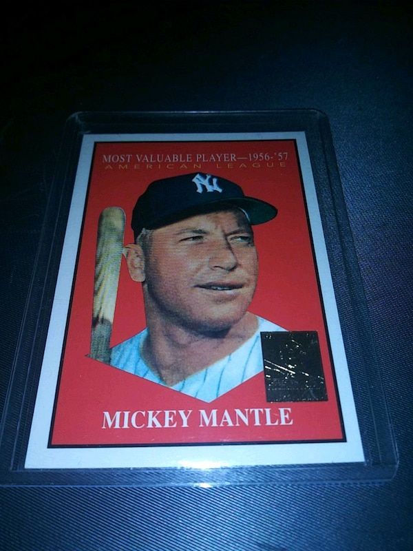 1996 Topps Mickey Mantle Reprint Card