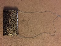 black and gold leopard print leather crossbody purse Northwood, 03261