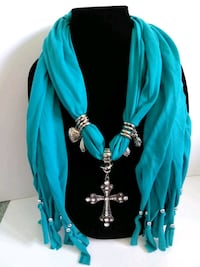 women's teal scarf with bevel cross Las Vegas, 89129