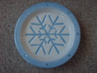 Blue & White Snowflake Soap Dispensers, Dish, Cup
