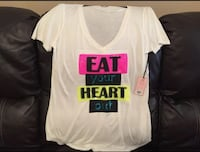 """Juicy Couture """"Eat Your Heart Out"""" Tee XL"""