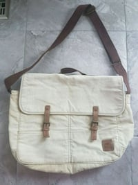 Roots Canvas and Leather Bag Cross Body