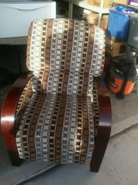 brown and white fabric sofa chair Henderson, 89015