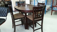 COUNTER HEIGHT 5PC DINING SET - ROUND