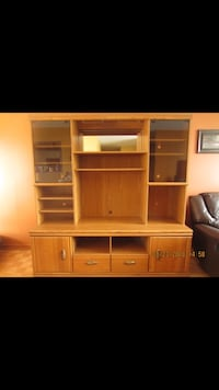 Wall unit, solid wood Longueuil, J4V