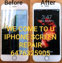 Cracked iPhone screen Replacement We come To You