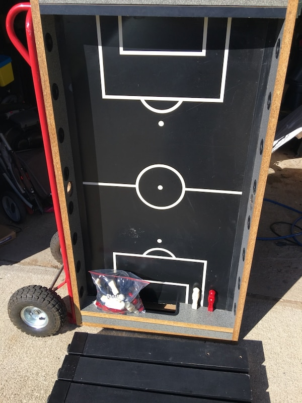 Foosball table with everything