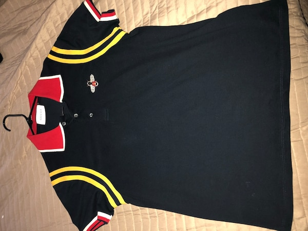 ac4c1a6ab Used Blue yellow white and red Gucci polo shirt.. only worn Once for sale in  Stone Mountain