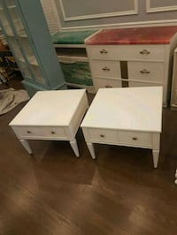 pair of vintage refinished side tables  Brampton, L6X