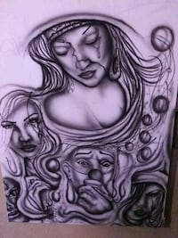 airbrush mural and house painter Bakersfield