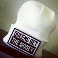 White Queens Get The Money Beanie