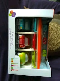 Brand new 3 car garage toy by battat toddler toy set
