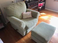 Swivel, Glider, recliner, with glider ottoman- light green ALEXANDRIA