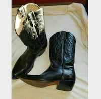 pair of black leather cowboy boots Story City, 50248