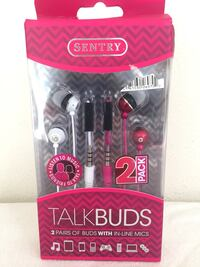 Brand new! Two pairs of head phones with inline mic  Huntington Beach, 92646