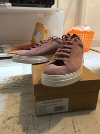 Oliver Spencer Pink Suede Ambleside Low-Top Sneakers Nuremberg, 90429